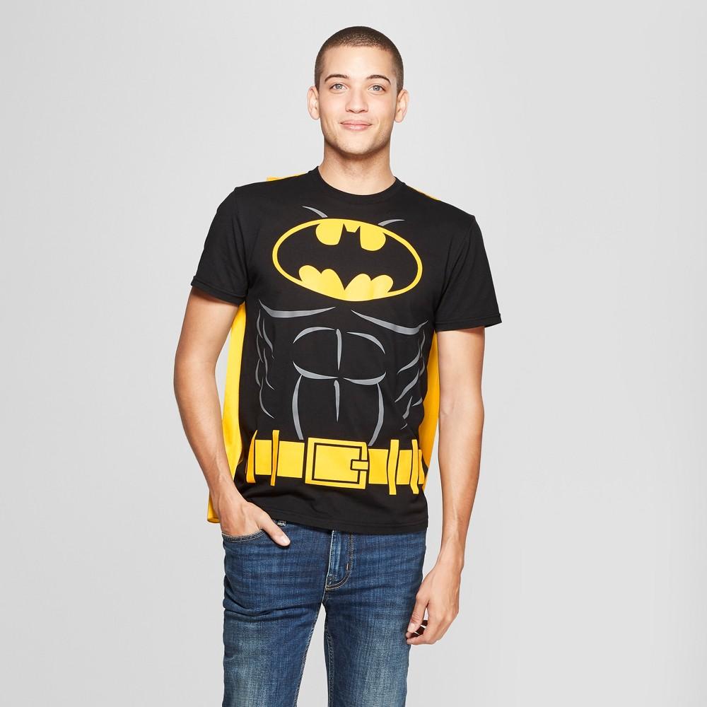 Men's DC Comics Batman Caped Short Sleeve T-Shirt - Black XL