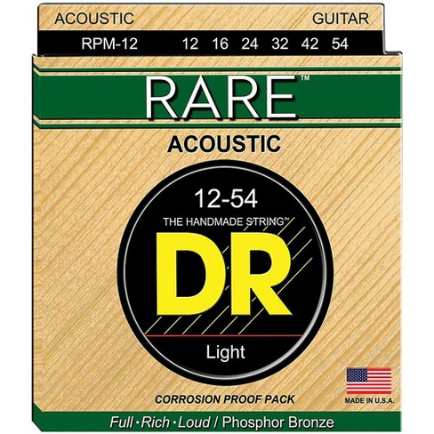 DR Strings RPM-12 Light RARE Phosphor Bronze Acoustic Guitar Strings - image 1 of 1
