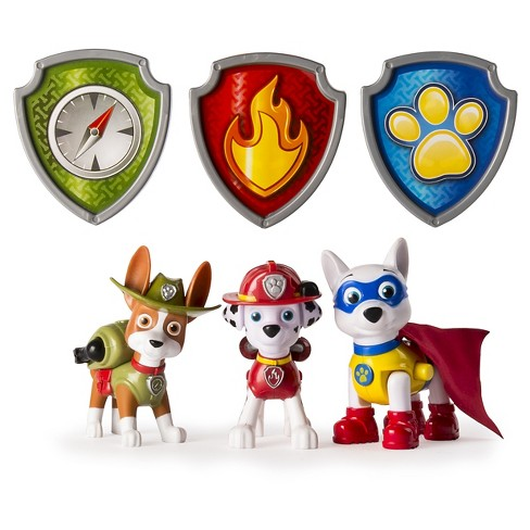 Paw Patrol Action Pack Pups Figure Set, Tracker, Apollo, Everest  -3pk - image 1 of 2