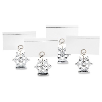 12ct Sparkling Snowflake Place Card Holder