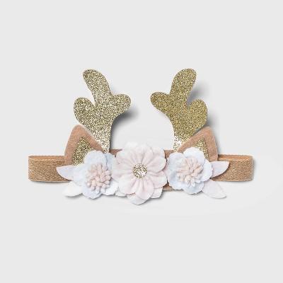 Toddler Girls' Floral Reindeer Headband - Cat & Jack™ Brown One Size