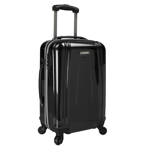 """U.S. Traveler 22"""" USB Port EZ-Charge Suitcase - Black - image 1 of 3"""