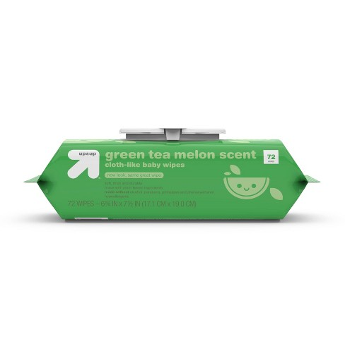 Green Tea Melon Scent Baby Wipes -  Up&Up™ (Select Count) - image 1 of 4