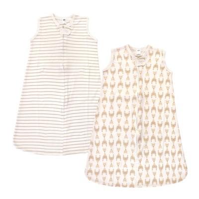 Hudson Baby Unisex Baby Interlock Cotton Sleeveless Sleeping Bag - Neutral Giraffe 0-6M