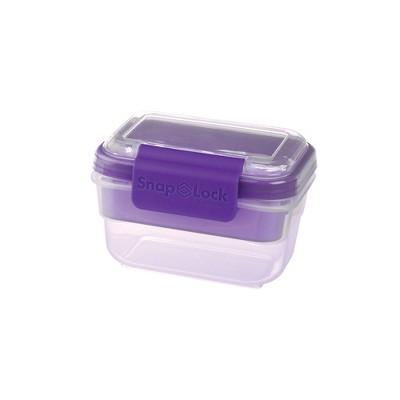Progressive International Snaplock 2 Cup Capacity Snack To Go Plastic Container