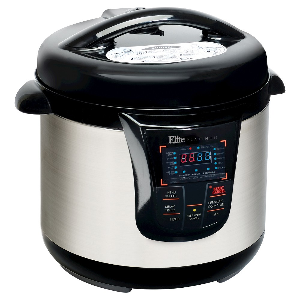 Elite Platinum 8 Qt. Electric Pressure Cooker - Stainless Steel, Silver