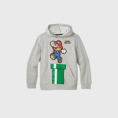Boys' Nintendo Super Mario Sweatshirt - Gray