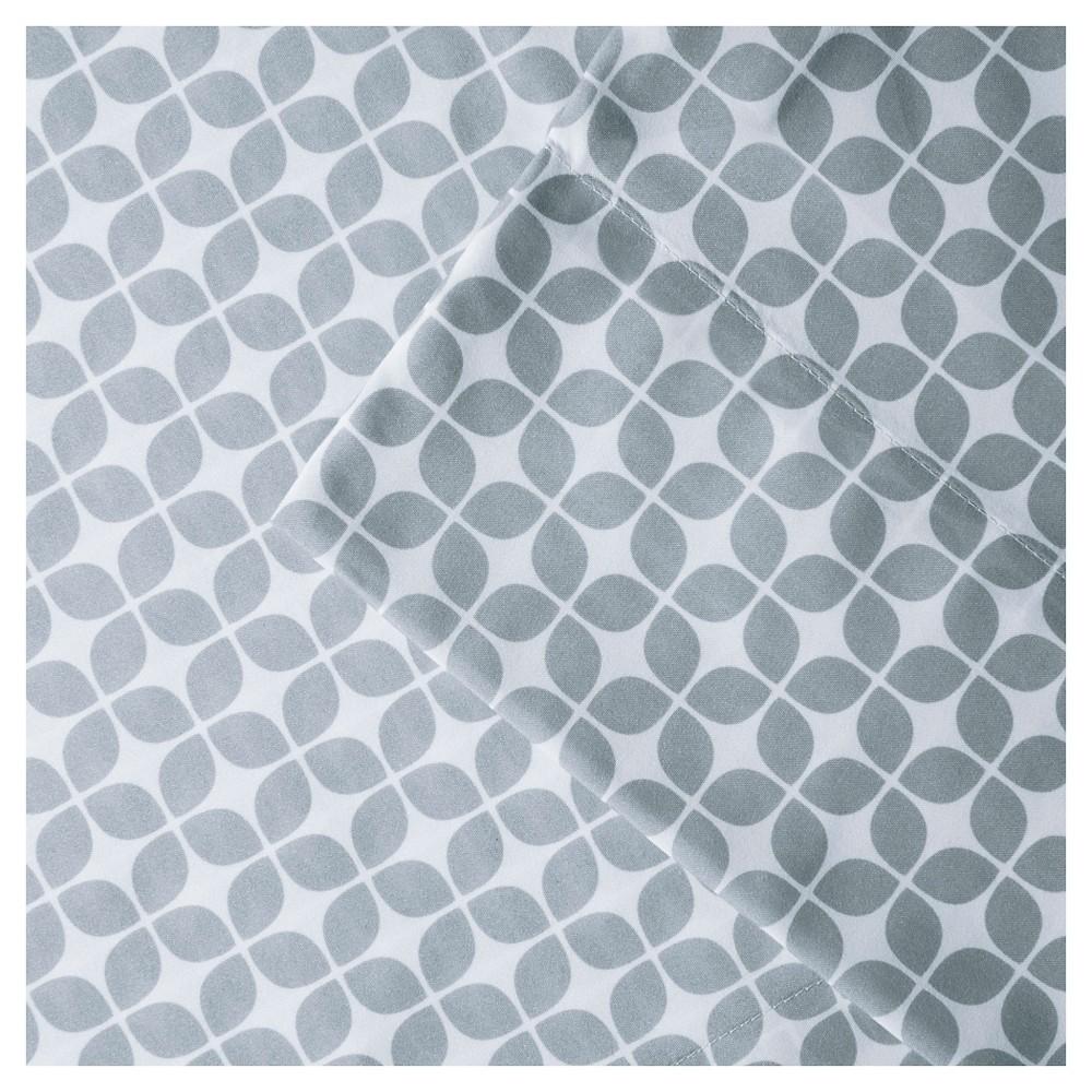 Lita Print Microfiber Sheet Set (Twin) Gray