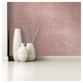 Devine Color Metallic Leaf Peel and Stick Wallpaper -Rose Gold