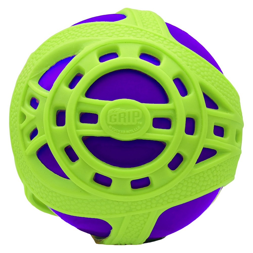 Tucker Toys Hand Ball Purple Green Super fun is right around the corner with the Tucker Toys Sports Balls - Tucker Toys. The fun sports ball is the ultimate bouncy ball, with the ability to bounce on any surface including grass, sand and water. Plus- the ball has a super grip that makes catching and throwing easy. Color: Purple.