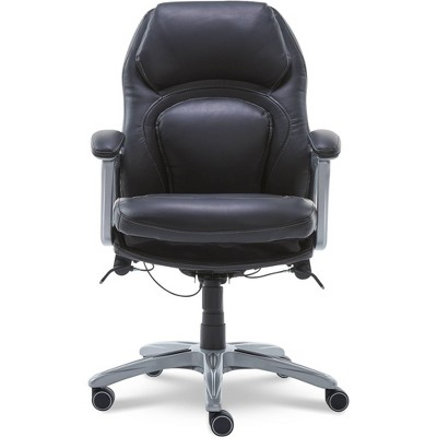 Back N Motion Health & Wellness Executive Chair Black Leather - Serta