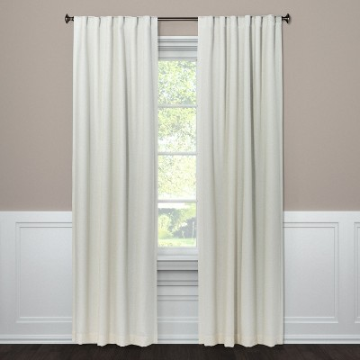 "84""x50"" Aruba Curtain Panel Blackout Sour Cream - Threshold™"