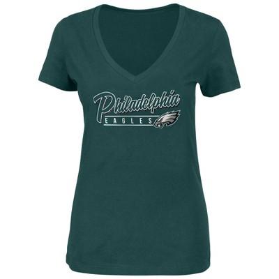 NFL Philadelphia Eagles Women's Plus Size Short Sleeve V-Neck Must Win T-Shirt
