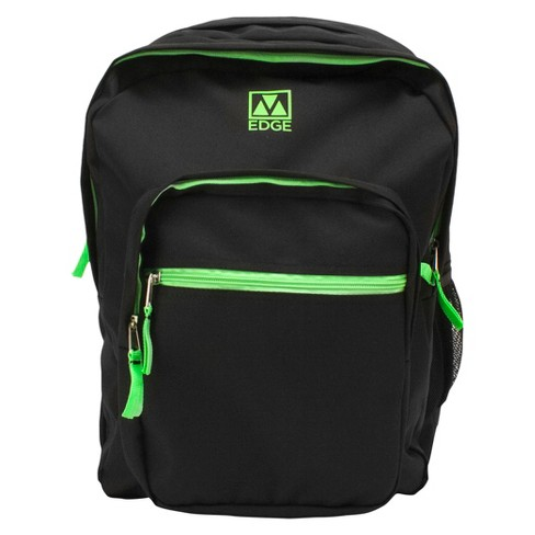 "M-Edge 19"" Street Backpack with Built-in 4000 mAh Portable Charger - Black/Lime - image 1 of 5"