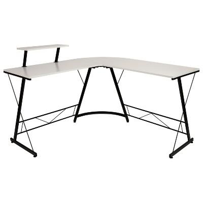 """Flash Furniture L-Shaped Desk 71.5"""" Computer Corner Desk, Home Office Corner Desk, Gaming Desk, Space Saving, Easy to Assemble"""
