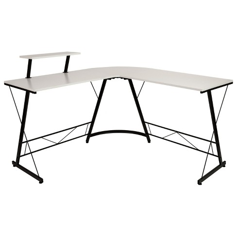 Flash Furniture L Shaped Desk 71 5, Flash Furniture L Shaped Computer Desk With Pullout Keyboard Tray