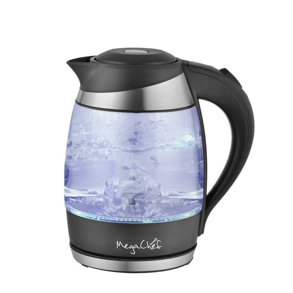 Image of MegaChef 1.8L Electric Tea Kettle - Black