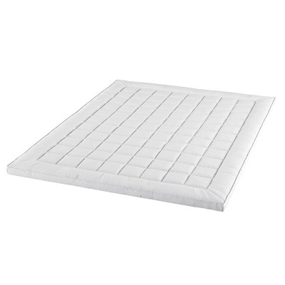 """Hastings Home Queen 3"""" Down Alternative Filled Pillow-Top Mattress Topper - White"""
