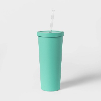 20oz Stainless Steel Tumbler with Straw - Sun Squad™