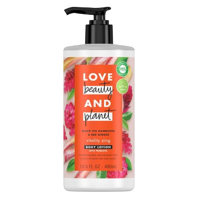 Love Beauty and Planet Vitality Zing Black Tea Kombucha & Red Ginger Lotion - 13.5oz