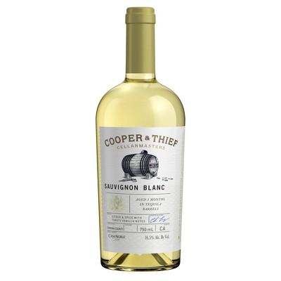 Cooper & Thief Tequila Barrel-Aged Sauvignon Blanc White Wine - 750ml Bottle