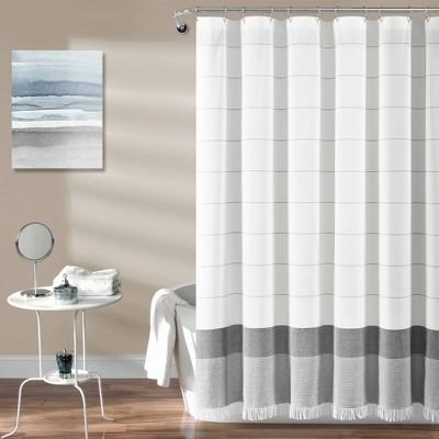 Striped Yarn Dyed Tassel Fringe Shower Curtain Lush Décor Target