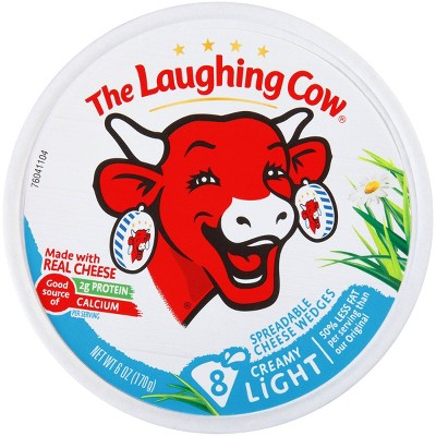 The Laughing Cow Spreadable Light Swiss Cheese Wedges - 8ct