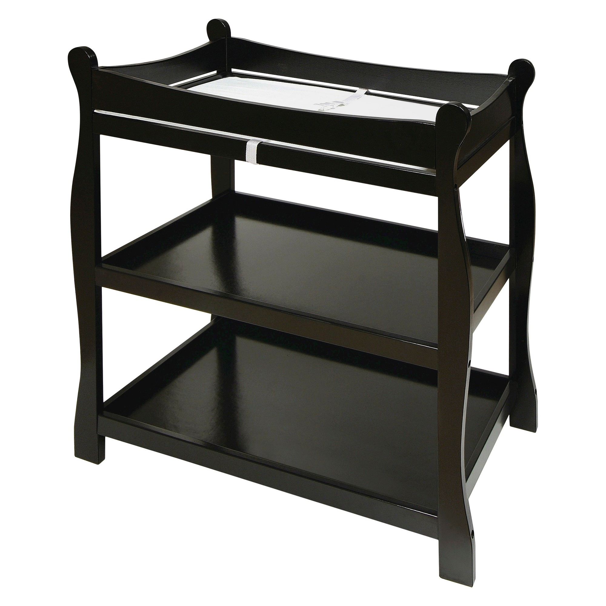 Badger Basket Sleigh Style Changing Table - Black