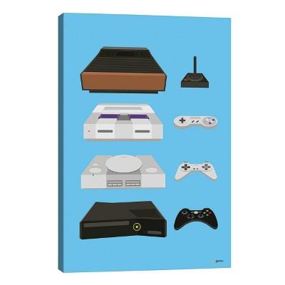 My Controls Video Games by Rafael Gomes Unframed Wall Canvas Print - iCanvas