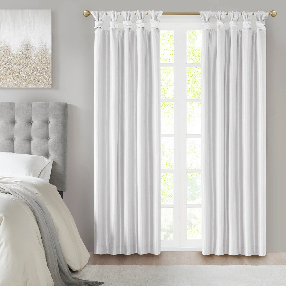 84 34 X50 34 Lillian Twist Tab Total Blackout Window Curtain White