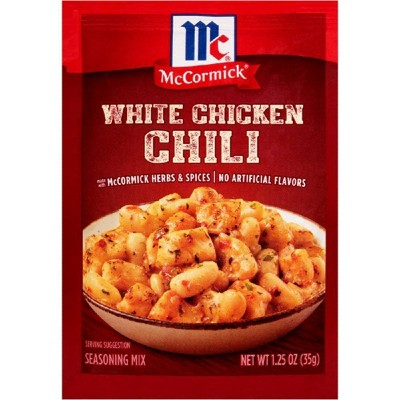 McCormick White Chicken Chili Seasoning Mix - 1.25oz