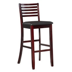 Prime 29 Monaco Bar Stool With Upholstered Seat Back Espresso Machost Co Dining Chair Design Ideas Machostcouk