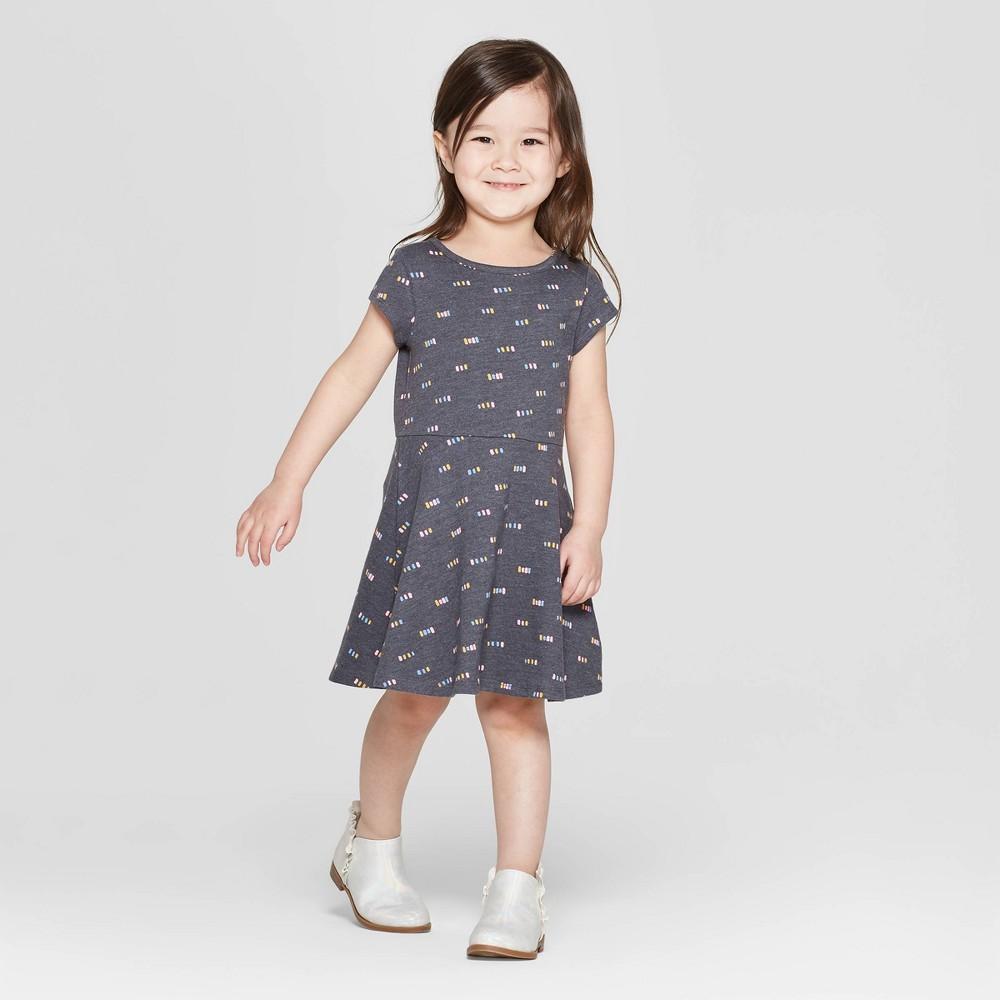 Toddler Girls' A Line Dress - Cat & Jack Gray 2T