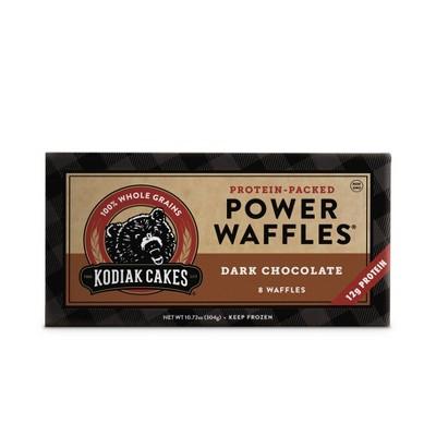 Kodiak Cakes Frozen Power Waffles Dark Chocolate  - 10.72oz/8ct