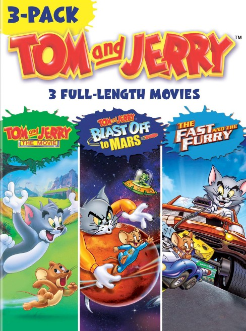 Tom and Jerry 3-Pack: Tom and Jerry - The Movie/Blast Off to Mars/The Fast and the Furry [3 Discs] - image 1 of 1