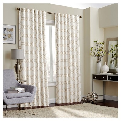 Correll Blackout Curtain Ivory (52 x63 )- Eclipse™
