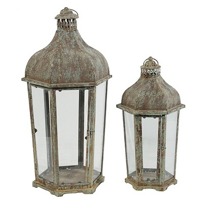 2pc Antique Single Candle Holders 34  - A&B Home®