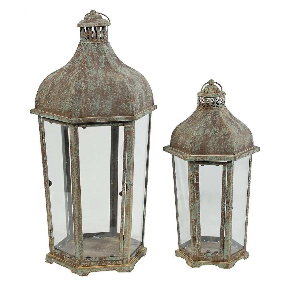 Image of 2pc Antique Single Candle Holders 34 - A&b Home