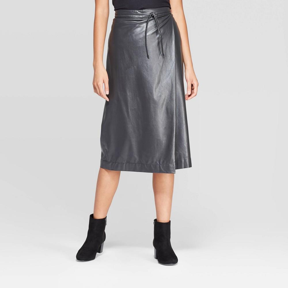 Image of Women's Regular Fit Wrap Tied Midi Skirt - Prologue Gray M, Size: Medium