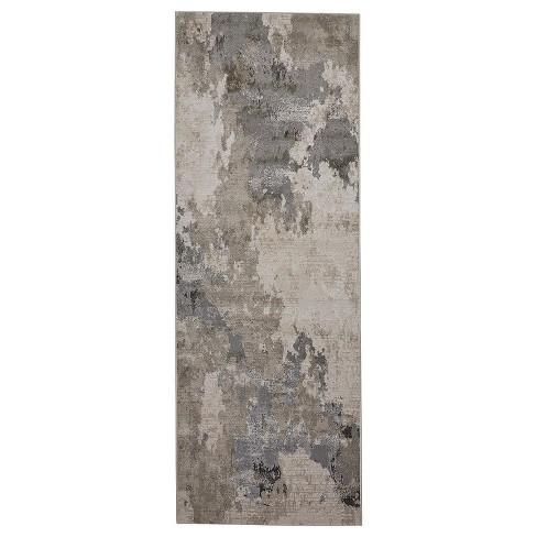 Modern Abstract Gray Area Rug
