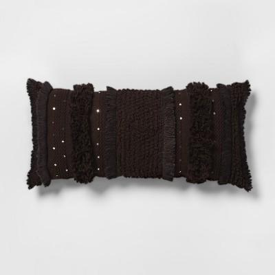 Black Tufted Oversize Lumbar Throw Pillow - Opalhouse™
