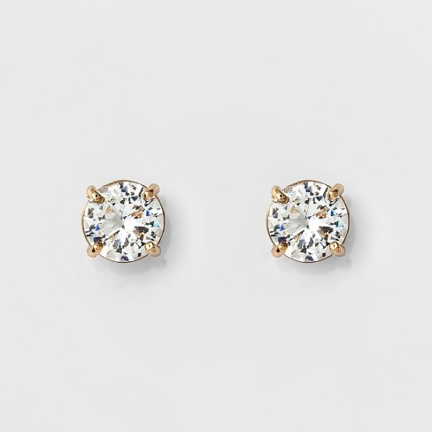 Women S Round Crystal Stud Earring A New Day Gold
