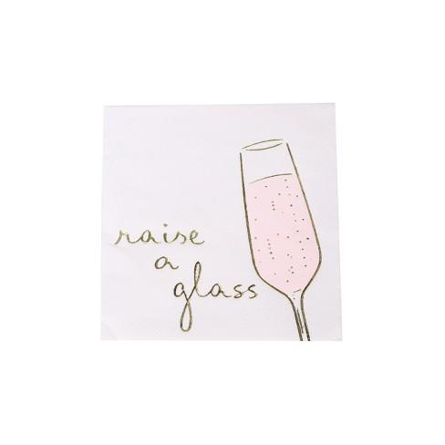 "30ct ""Raise a Glass"" Beverage Napkin - Spritz™ - image 1 of 3"