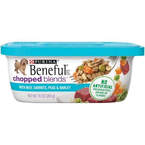 Beneful Prepared Meals Chopped Blends Beef Carrots Peas & Barley Wet Dog Food - 10oz - image 1 of 5