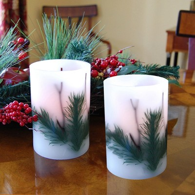 2ct Battery Operated LED Pine Needle Candles