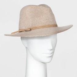 Women's Knit Fedora Hat - Universal Thread™ Cream One Size