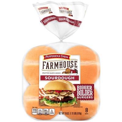 Farmhouse Sourdough Buns - 18oz/8ct