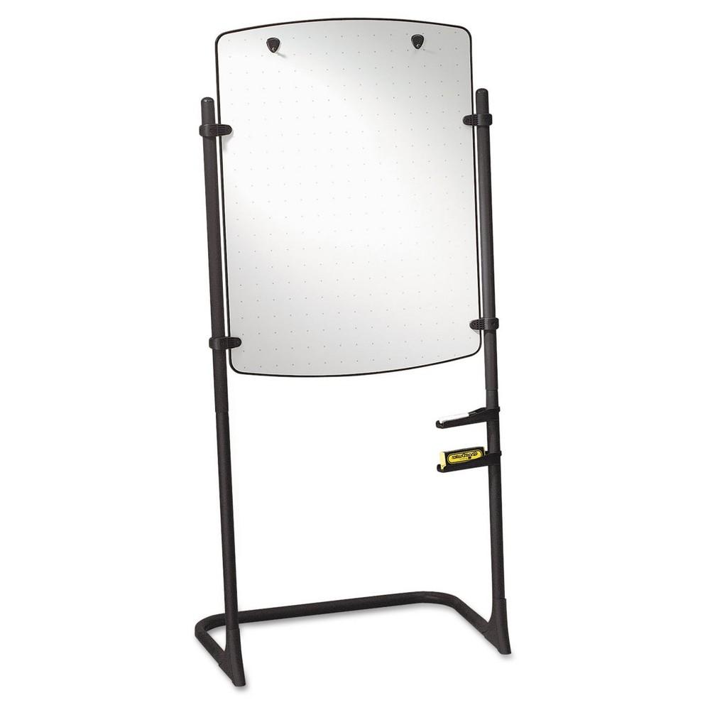 Quartet Total Erase Presentation Dry Erase Easel, 31 x 41, White, Black Steel Frame, Clear