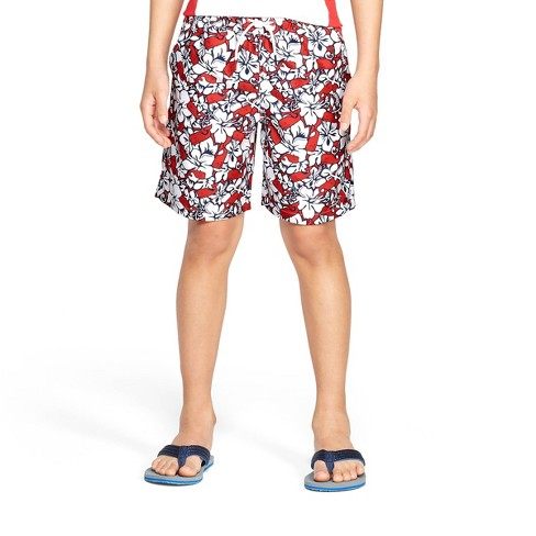 7e62b78c67 Boys' Hibiscus Whale Swim Trunks - Red/Navy - Vineyard Vines® For Target :  Target