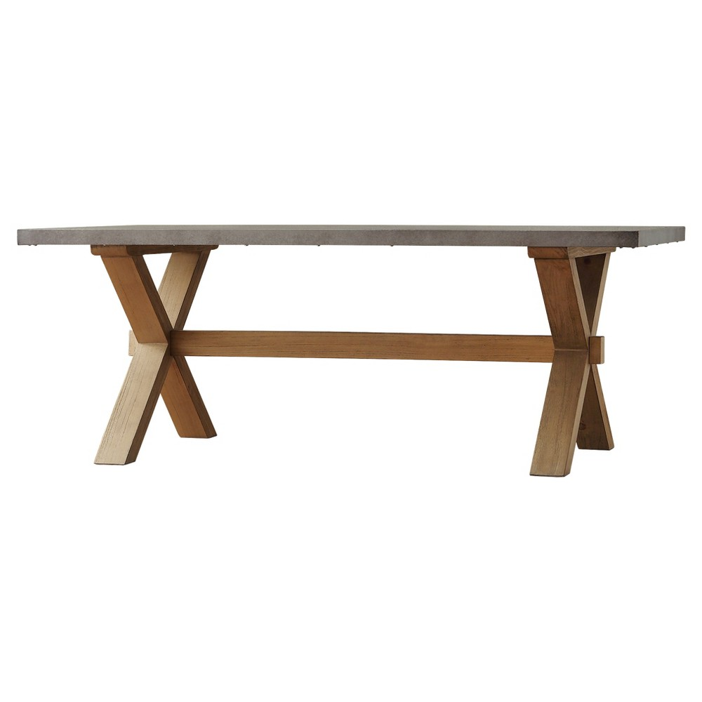 Westbrook Zinc Topped Cocktail Table - Inspire Q, Brown